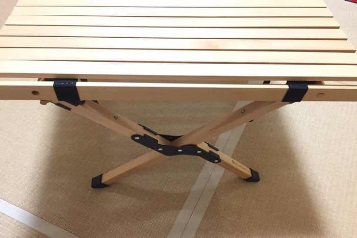 ハイランダーのウッドロールトップテーブルのダボが穴に入らない