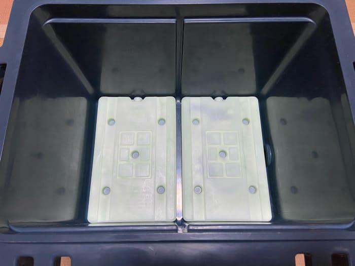 オレゴニアンキャンパー:ヒャドクーラーにはロゴス保冷剤L2つがシンデレラフィット