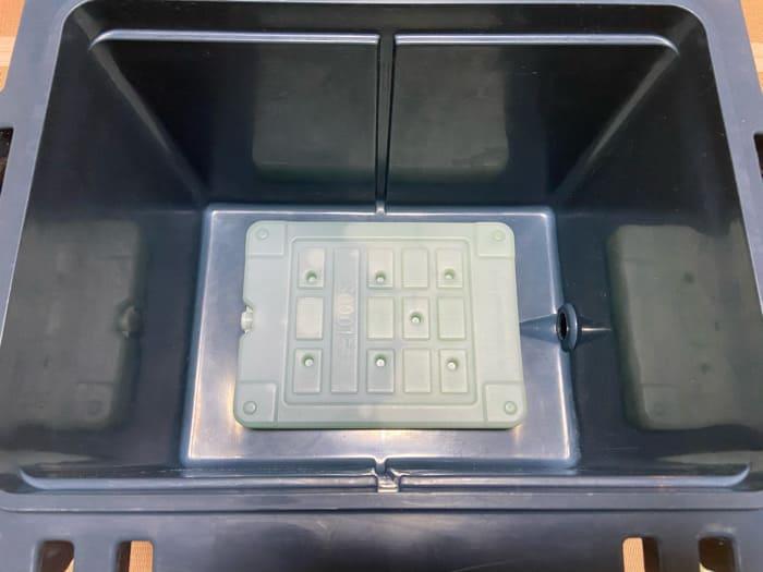 オレゴニアンキャンパーのヒャドクーラーにロゴスの保冷剤XL