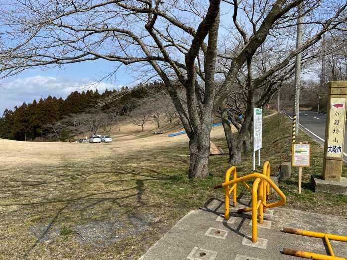 宮城県_加護坊山キャンプ場_車の乗り入れ入り口
