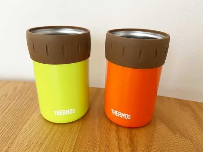 サーモス保冷缶ホルダーJCB-352の二つのカラー