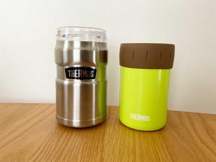 サーモス保冷缶ホルダーROD-002とJCB-352