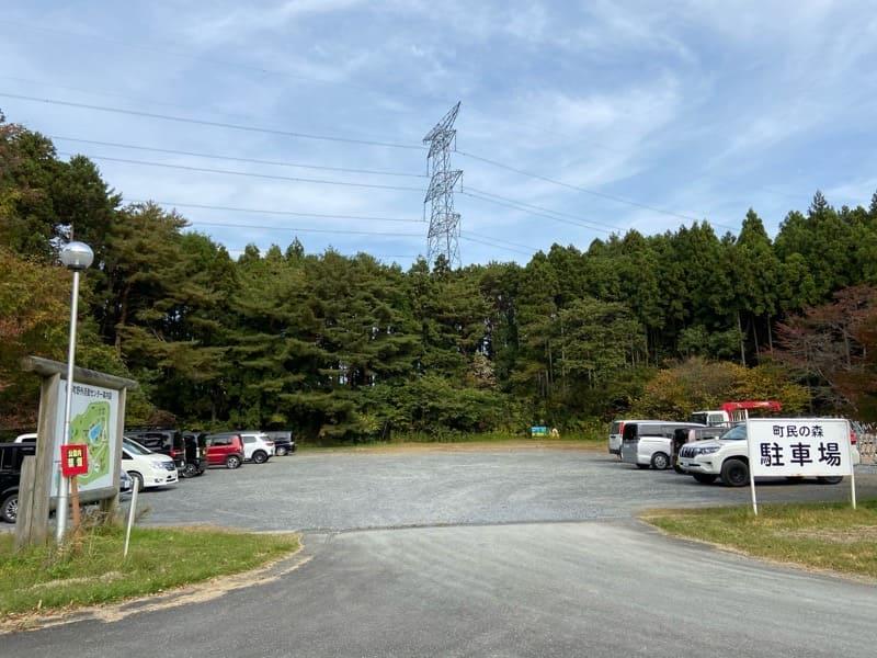 宮城県松島町野外活動センターキャンプ場の駐車場