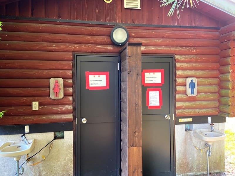 宮城県松島町野外活動センターキャンプ場のトイレ