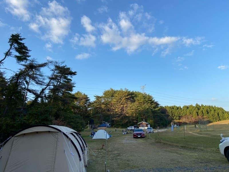 宮城県松島町野外活動センターキャンプ場のキャンプサイト