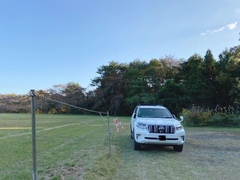 宮城県松島町野外活動センターキャンプ場の駐車スペース
