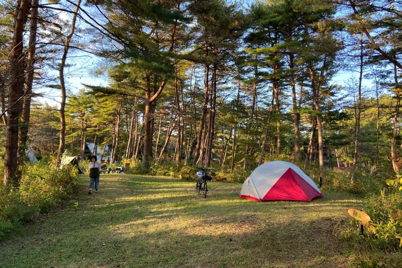 宮城県松島町野外活動センターキャンプ場のソロキャンプサイト