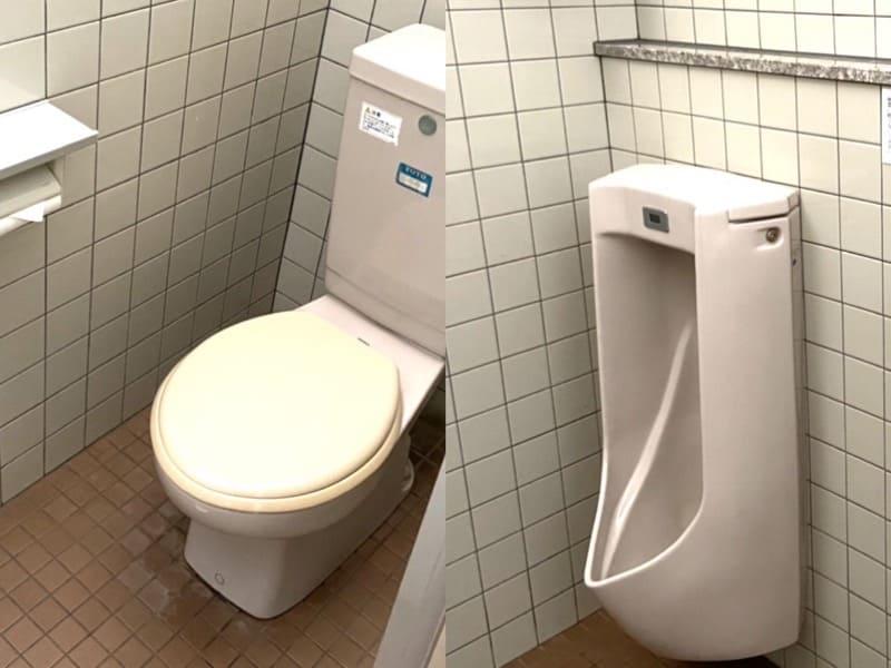 宮城県加瀬沼公園管理事務所の男子トイレ