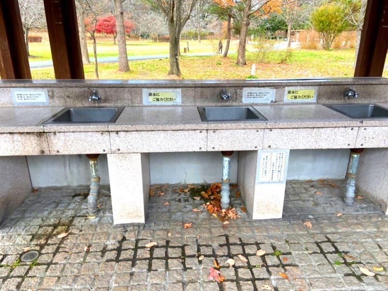 宮城県加瀬沼公園の炊事場