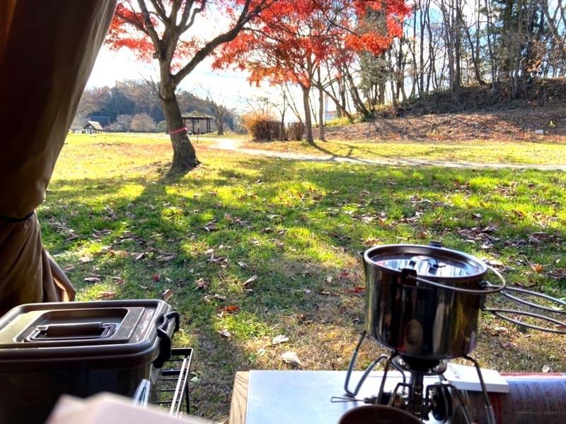宮城県加瀬沼公園でソロデイキャンプ