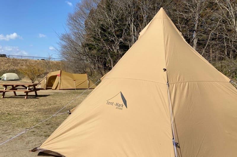 宮城県水の森キャンプ場のキャンプサイトでサーカスTC